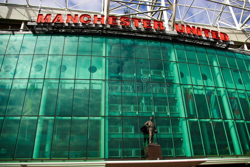 Estádio velho de Trafford foto de stock royalty free
