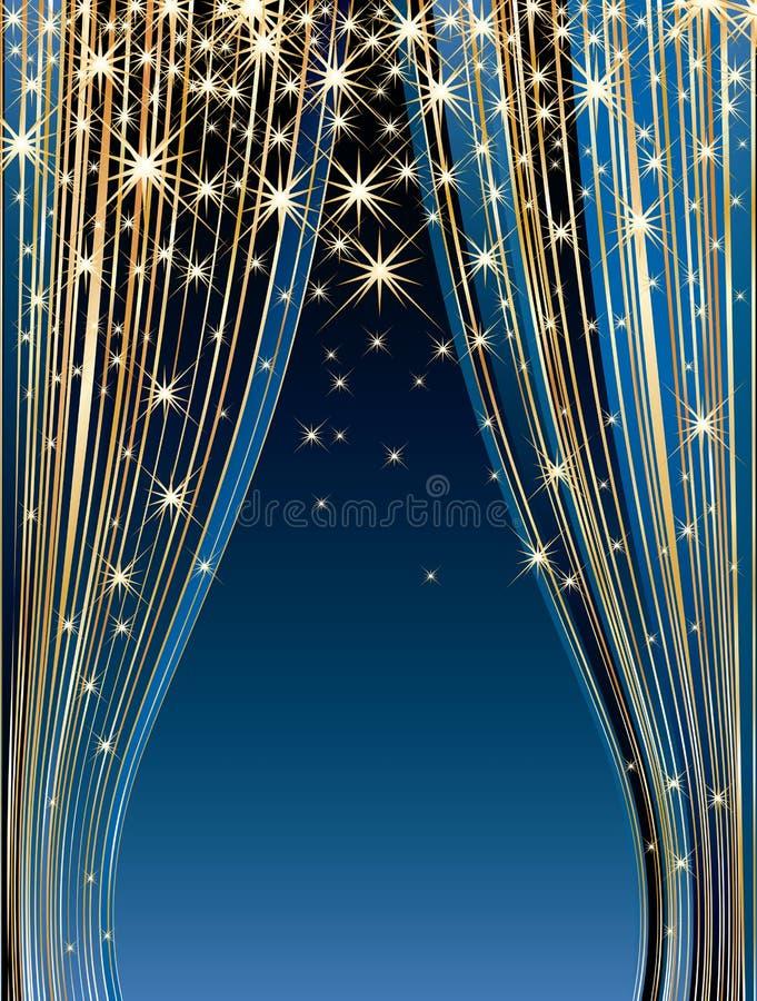 Estágio das estrelas azuis ilustração stock