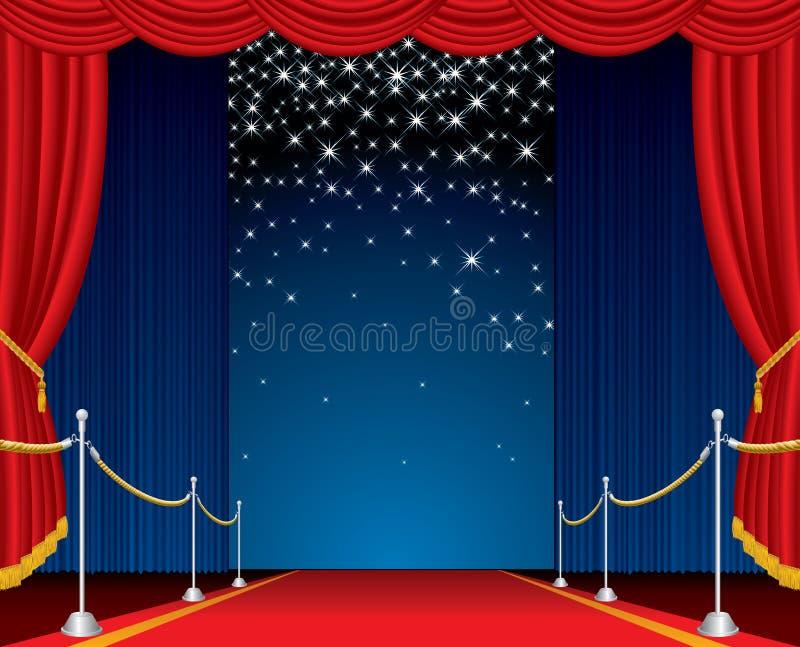 Estágio das estrelas de queda ilustração royalty free