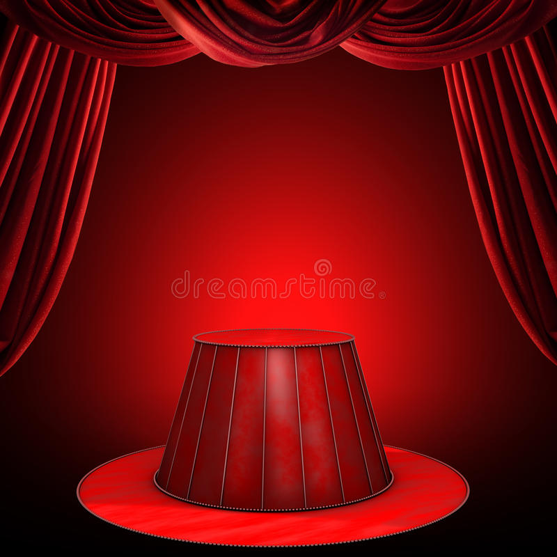 Estágio do circo ilustração royalty free