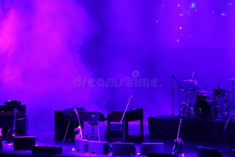 Estágio do concerto antes da mostra imagem de stock