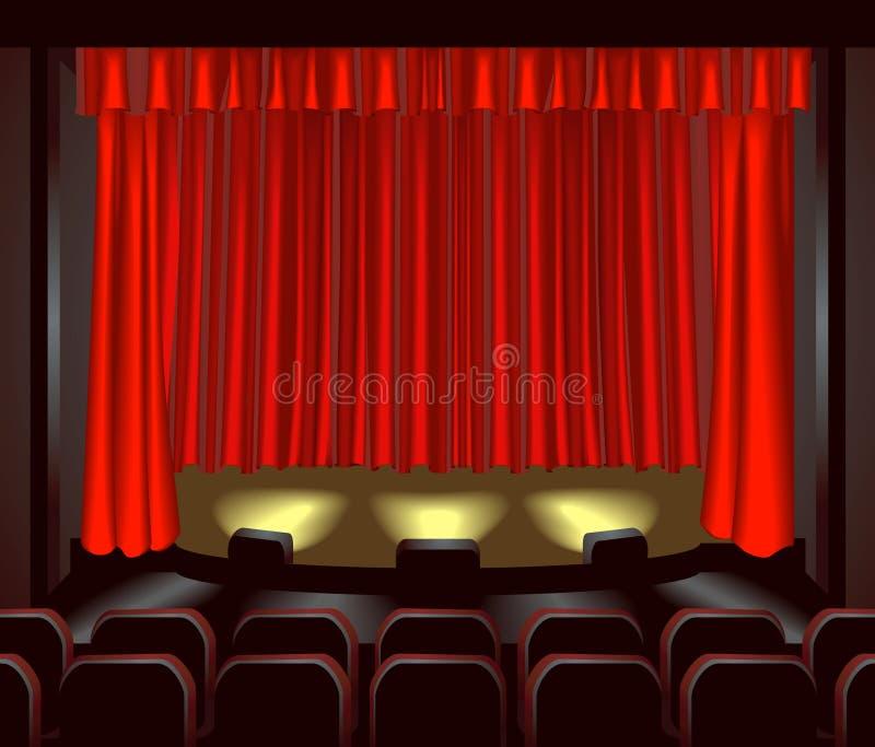 Estágio do teatro ilustração do vetor
