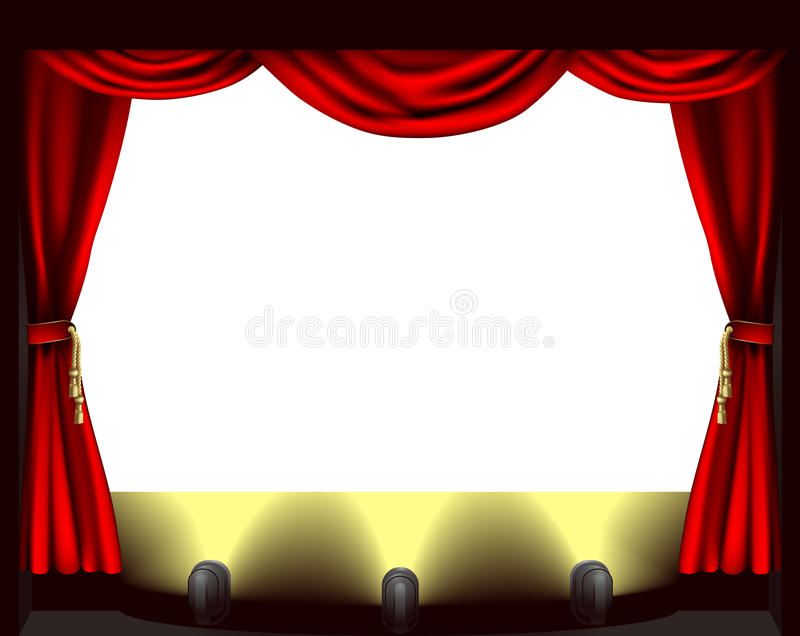 Estágio do teatro ilustração stock