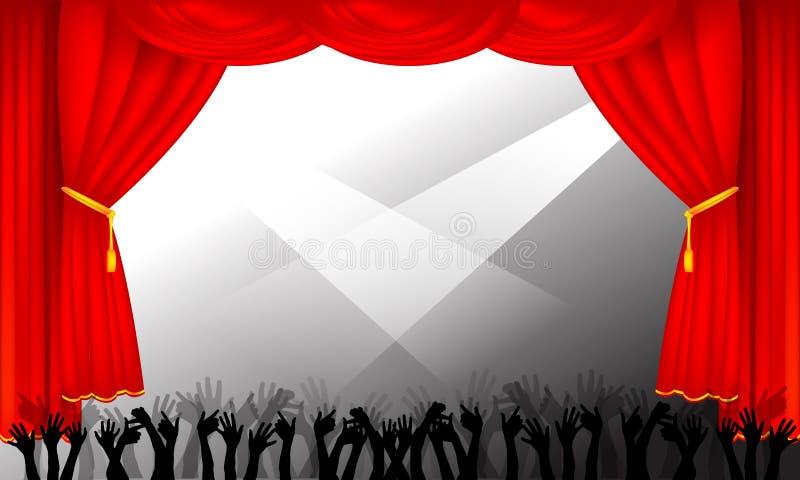 Estágio e audiência ilustração royalty free