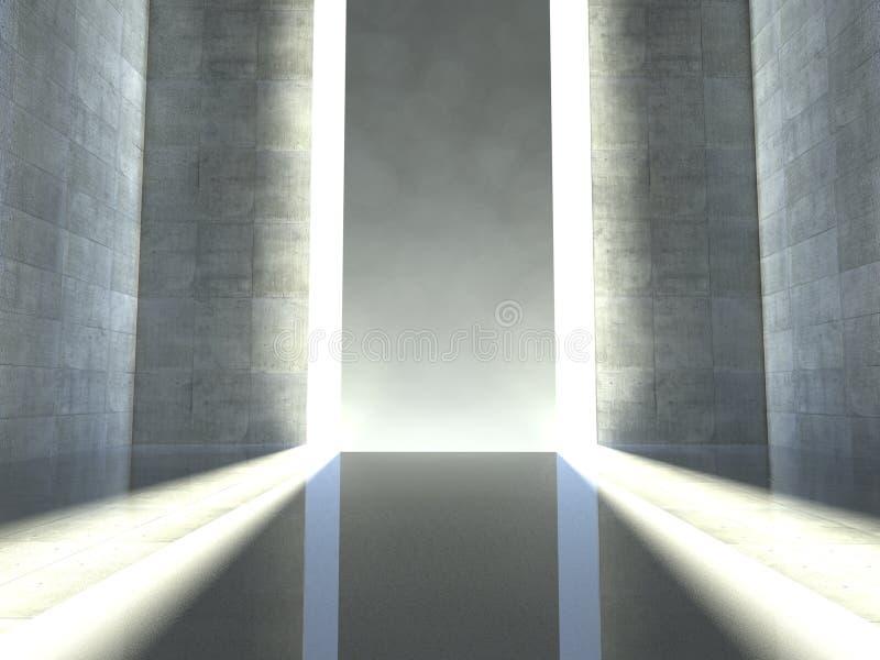 estágio interno 3d, vazio moderno ilustração do vetor