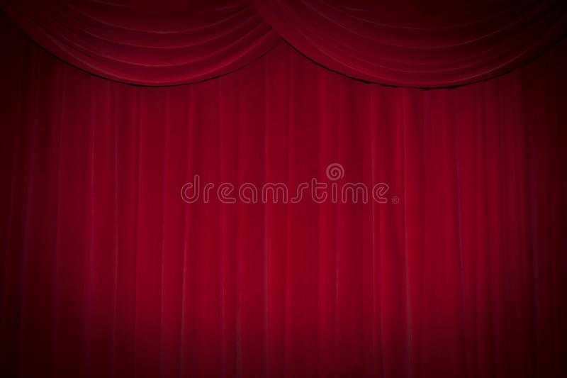 Estágio vermelho da cortina fotos de stock