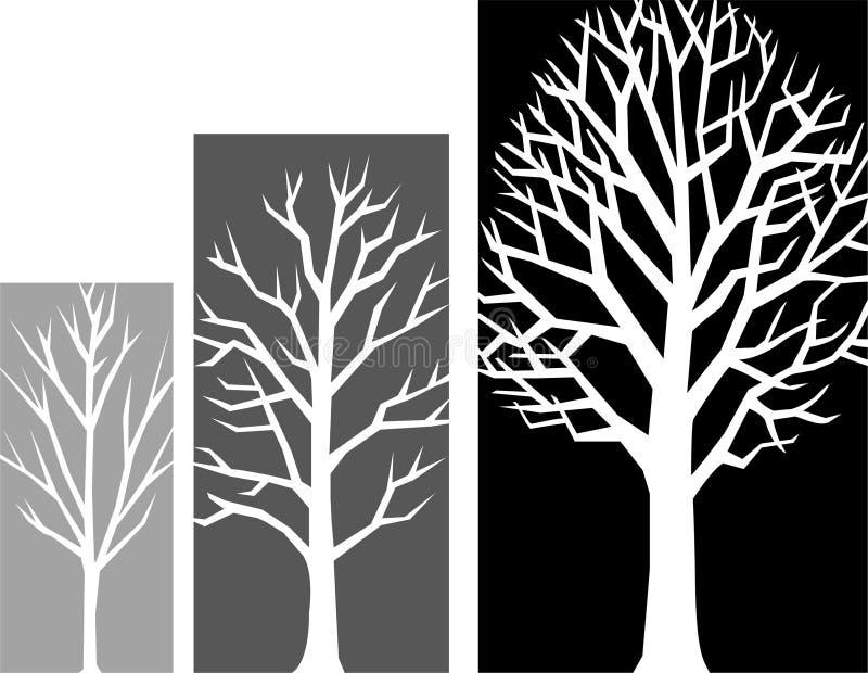 Estágios do crescimento da árvore/eps ilustração stock