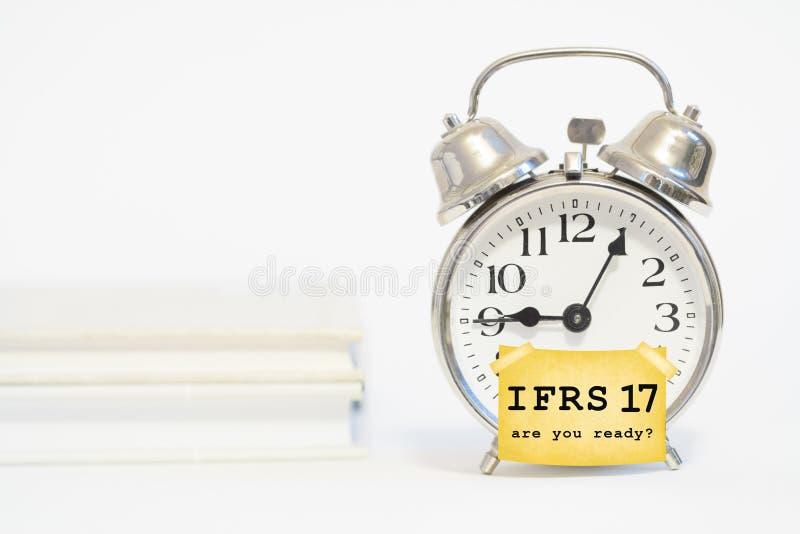 Estándar de contabilidad del seguro de Ifrs 17 imagen de archivo libre de regalías