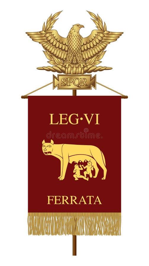 Estándar de la sexta legión acorazada ilustración del vector