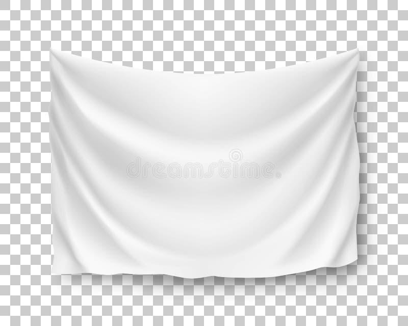 Estándar horizontal amplio, bandera, flámula, maqueta, ilustración del vector