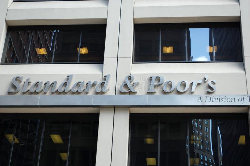 Estándar y pobres, S&P Nueva York fotografía de archivo libre de regalías