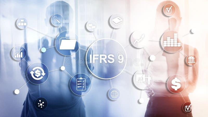Estándares internacionales de la información financiera de IFRS instrumento de regla foto de archivo libre de regalías