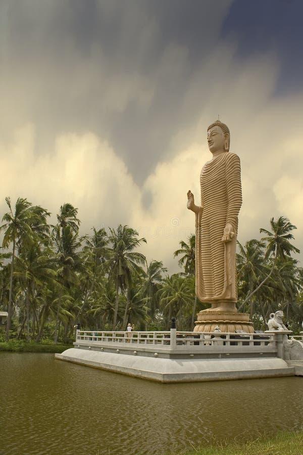 Estátua 2 de Mahabodhi buddha foto de stock