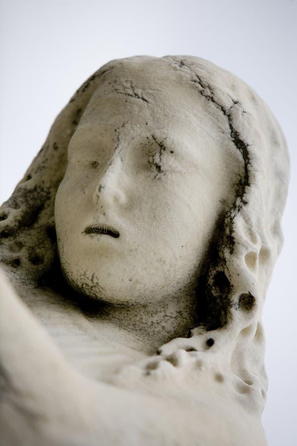 Estátua 5 da menina do cemitério de Nova Orleães St Louis #1 imagem de stock