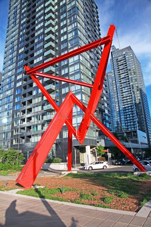 Estátua abstrata em Toronto foto de stock royalty free