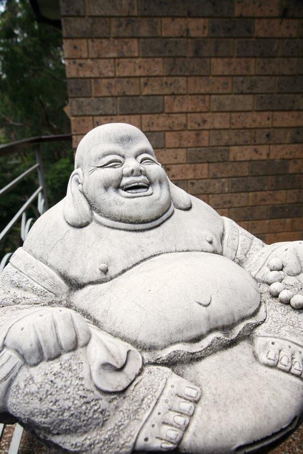 Estátua alegre da monge imagem de stock royalty free
