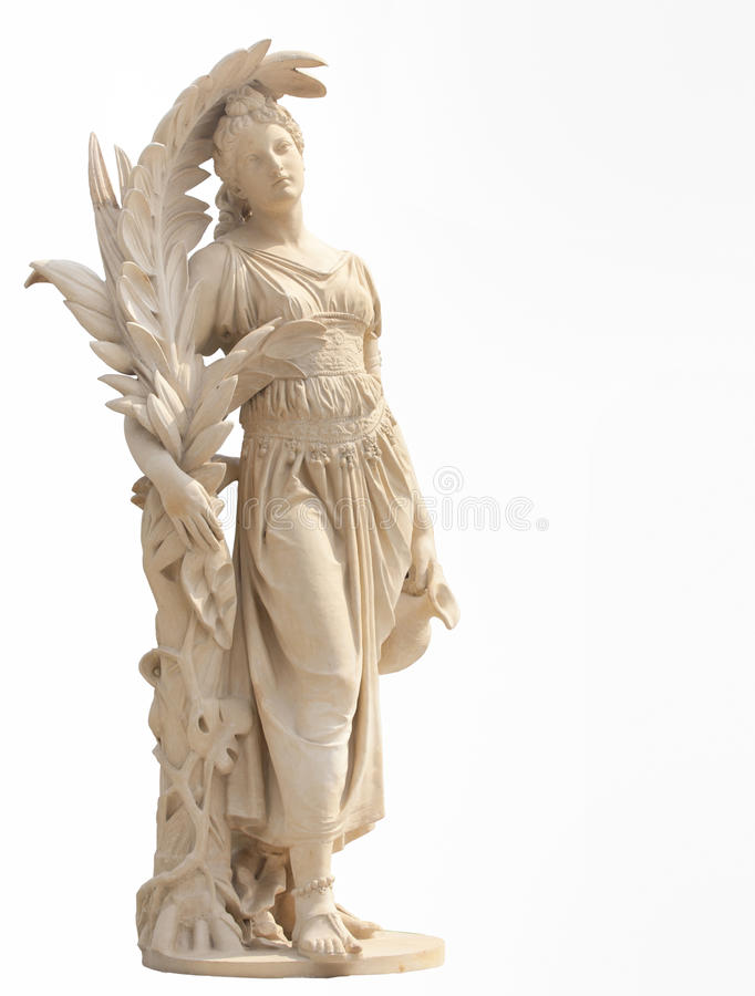 Estátua antiga das mulheres fotos de stock royalty free