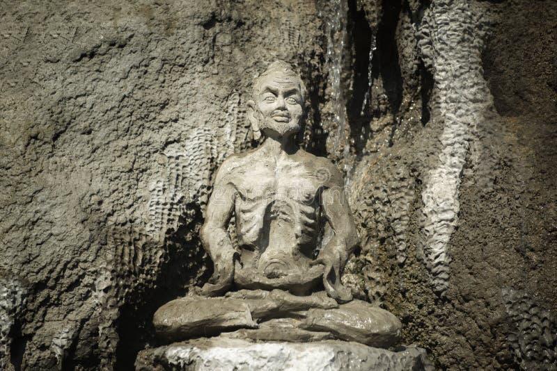 Estátua antiga de Buddha fotografia de stock royalty free