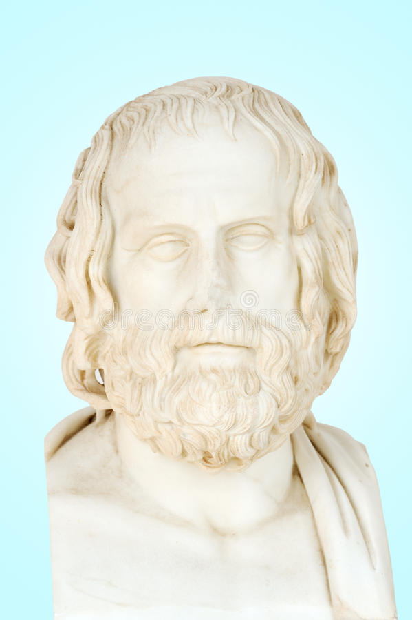Estátua de Euripides foto de stock royalty free