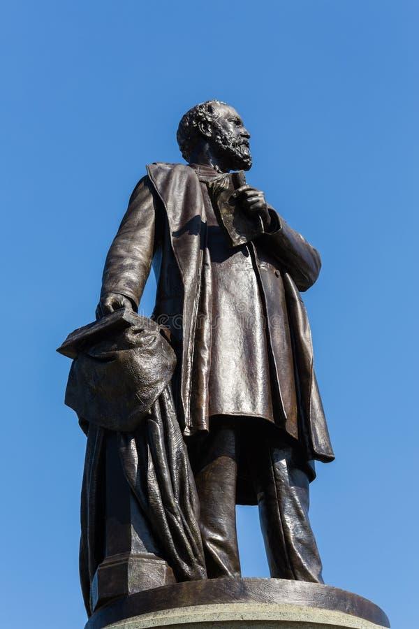 Estátua ao presidente assassinado James Garfield imagens de stock