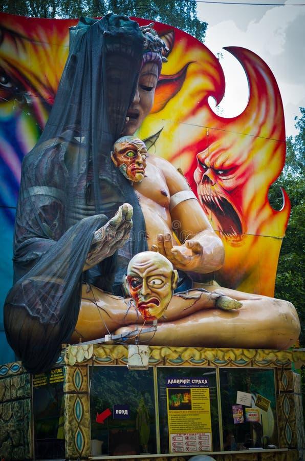 Estátua assustador fotografia de stock royalty free