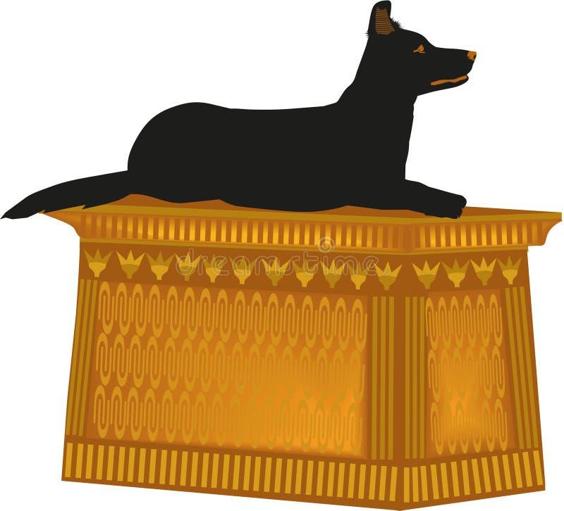 Estátua border collie do cão ilustração do vetor