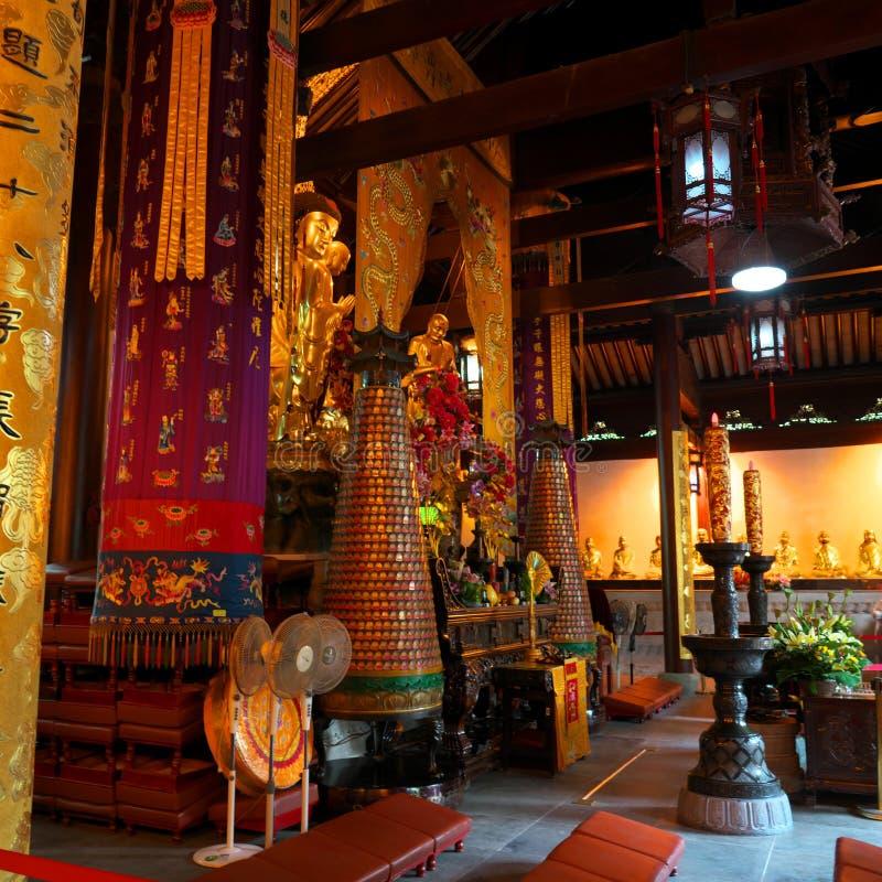 Estátua buda do Templo de Hanshan em Suzhou, China fotos de stock royalty free