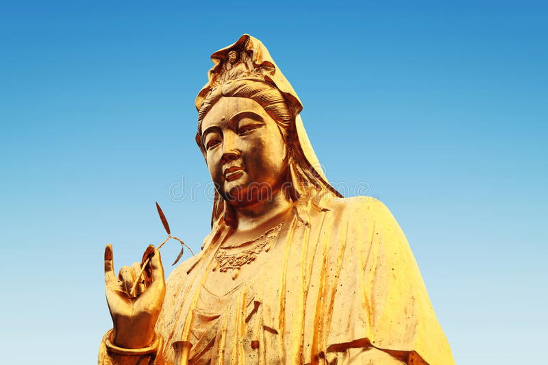 estátua budista do Bodhisattva de Guanyin, Bodhisattva de Avalokitesvara, deusa da mercê foto de stock