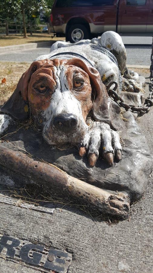 Estátua canino foto de stock royalty free
