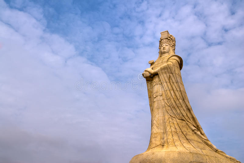 Estátua chinesa do deus fotografia de stock royalty free