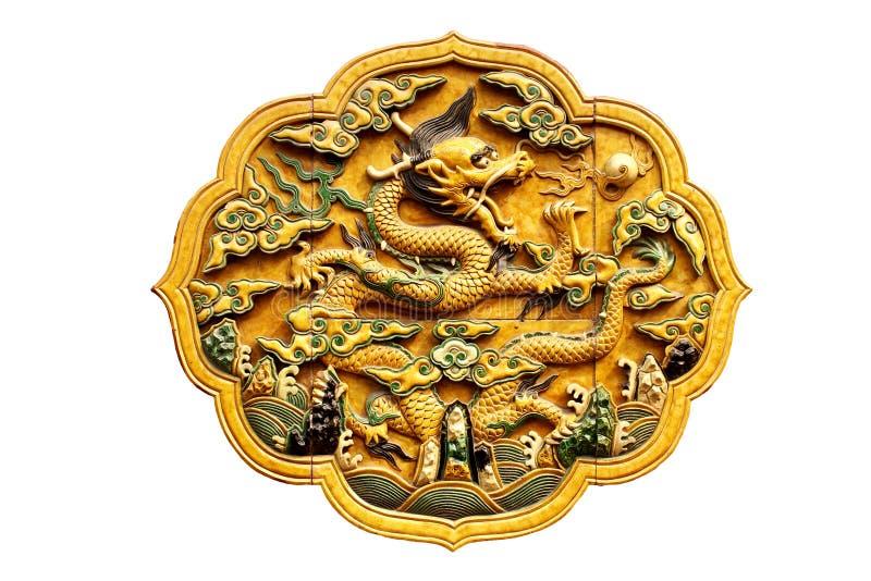 Estátua chinesa do dragão foto de stock