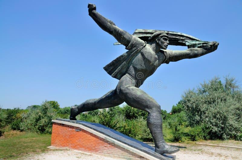 Estátua comunista, parque da lembrança imagem de stock royalty free