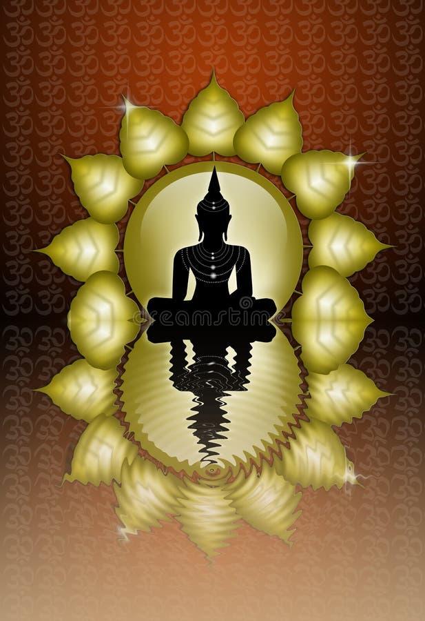 Estátua da Buda ilustração do vetor