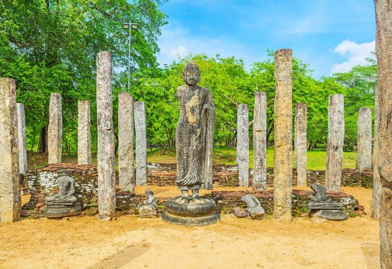 A estátua da Buda imagem de stock