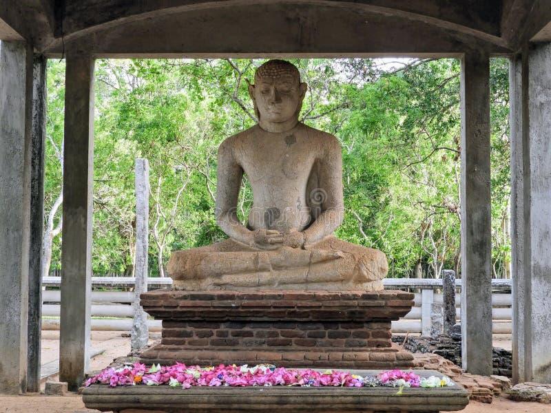 Estátua da Buda de Samadhi em Sri Lanka fotos de stock royalty free