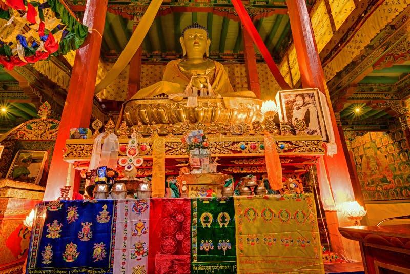 Estátua da Buda, monsatery de Hemis, Leh, Ladakh, Jammu e Caxemira, Índia fotos de stock royalty free