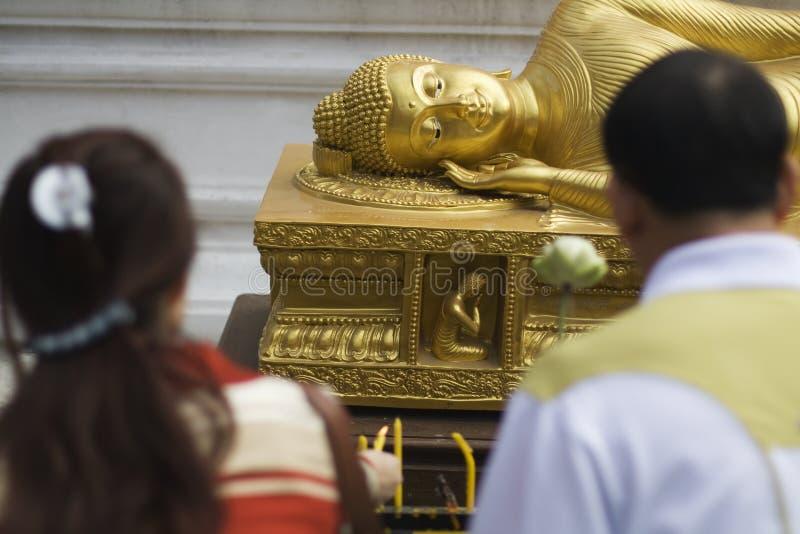 Estátua da Buda, Wat Doi Sithep Temple, Chiang Mai, Tailândia imagem de stock royalty free
