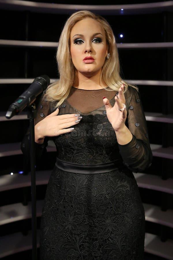 Estátua da cera de Adele fotografia de stock royalty free