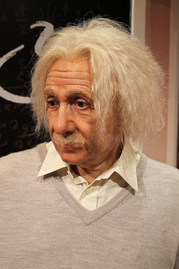 Estátua da cera de Albert Einstein, close up imagens de stock royalty free