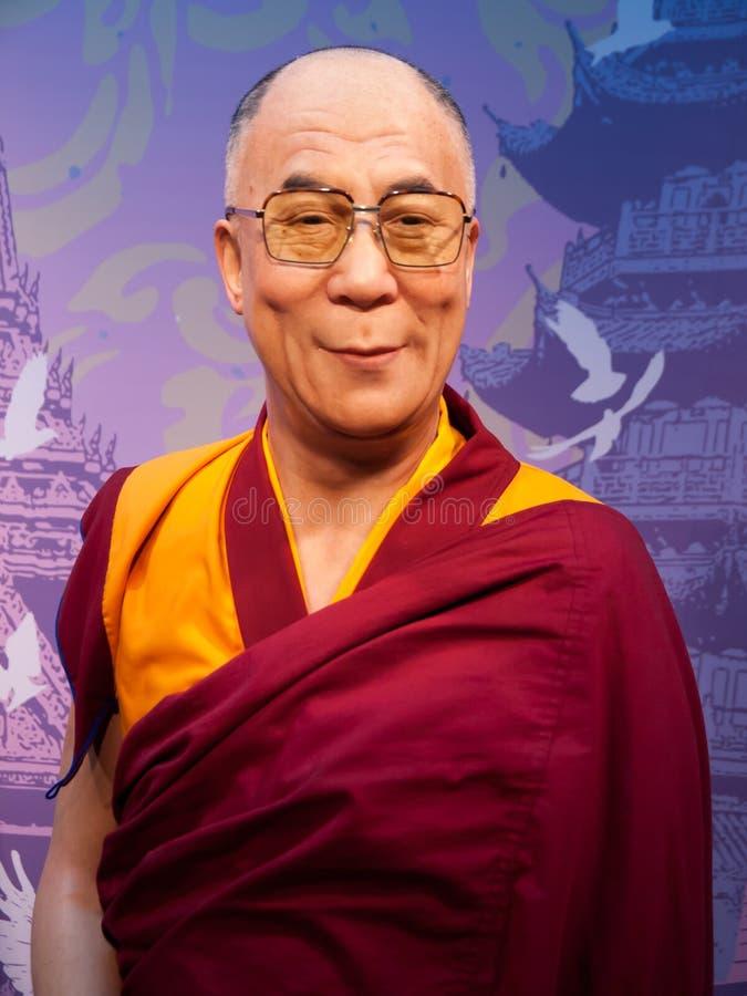 Estátua da cera de Dalai Lama foto de stock royalty free
