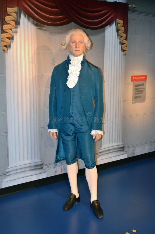 Estátua da cera de George Washington imagem de stock royalty free