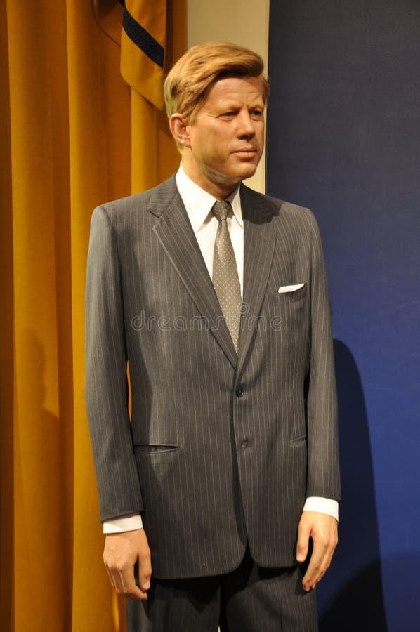 Estátua da cera de John F. Kennedy fotografia de stock royalty free