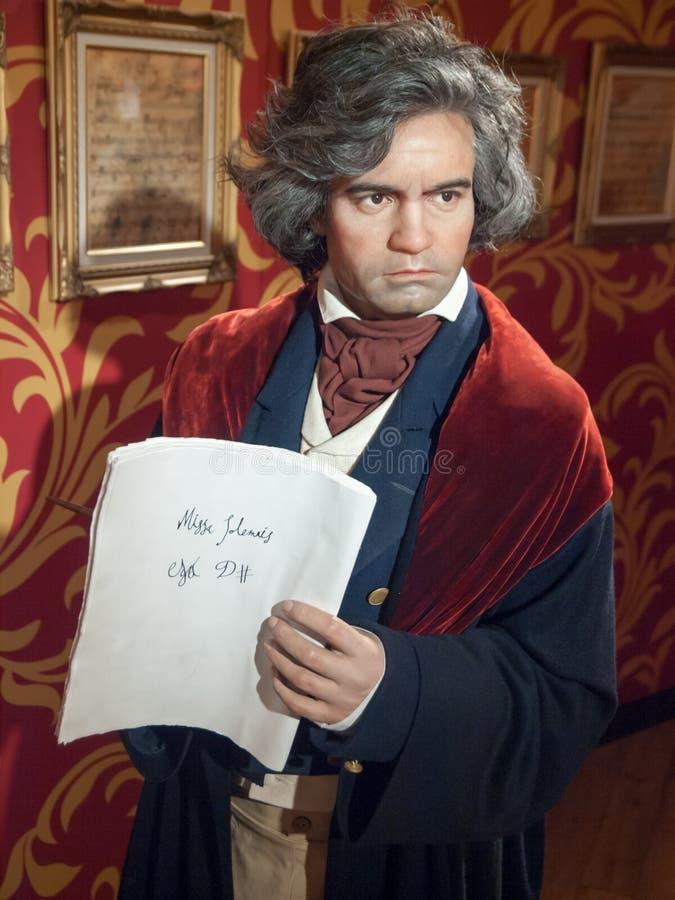 Estátua da cera de Ludwig van Beethoven imagem de stock royalty free