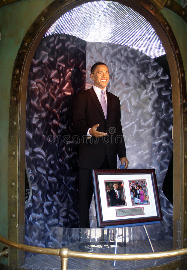 Estátua da cera do presidente Barak Obama foto de stock
