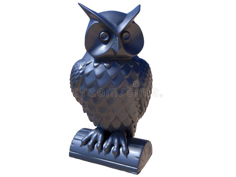 Estátua da coruja ilustração do vetor