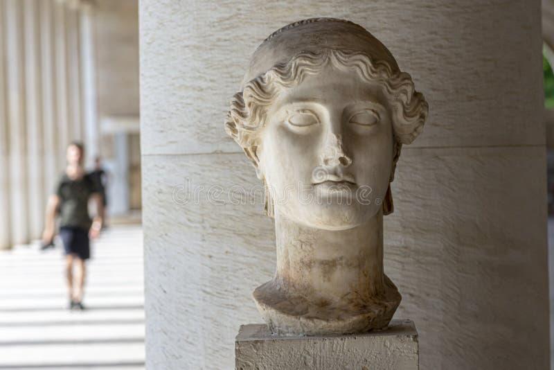 Estátua da deusa grega Nike foto de stock