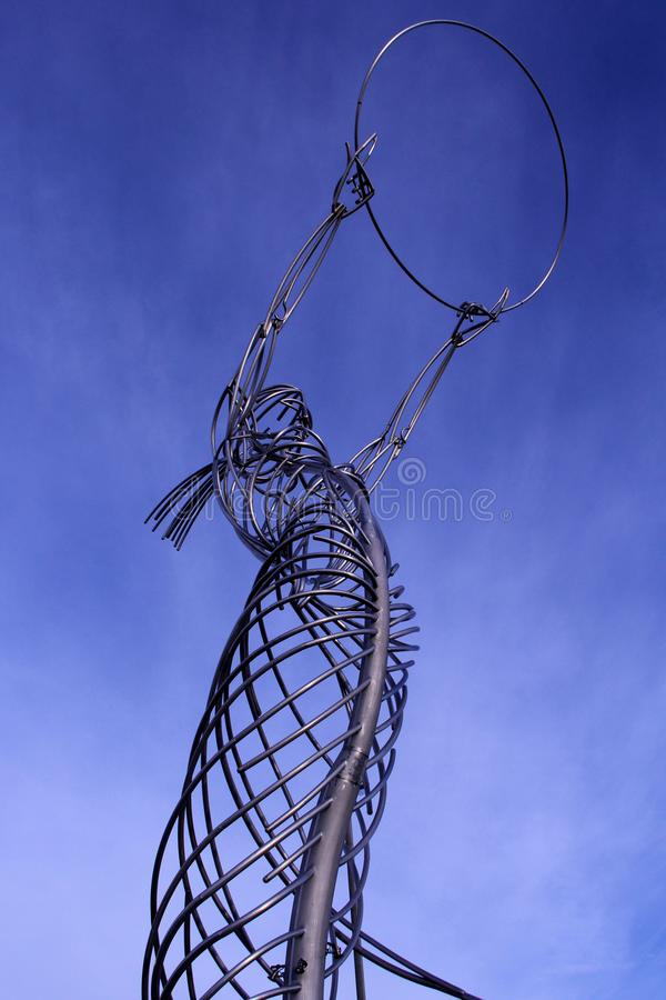 Estátua da esperança em Belfast fotografia de stock