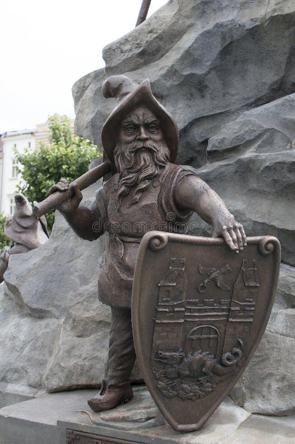 Estátua da fonte em Trutnov fotografia de stock royalty free