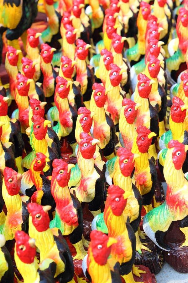 Estátua da galinha fotografia de stock