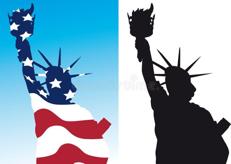 A estátua da liberdade ilustração royalty free